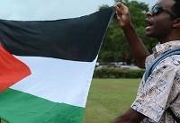 اعتراض شدید حامیان فلسطین به سخنرانی
