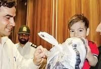 لحظات شیرین بازگشت محمدپرهام پس از ۵۰ ساعت دوری