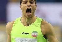قهرمانی تفتیان در مسابقات بینالمللی دو و میدانی فرانسه