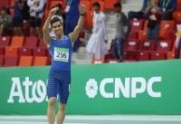 قهرمانی تفتیان در دوی ۱۰۰ متر فرانسه