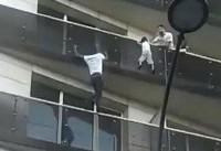 مرد عنکبوتی کودکی در پاریس را نجات داد + فیلم