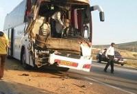 ۲۸مصدوم بر اثر برخورد اتوبوس و تریلی در استان مرکزی