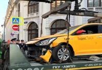 توضیح شهردار مسکو درباره برخورد تاکسی با عابران + عکس