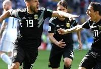 پایان نیمه اول / آرژانتین یک - ایسلند یک