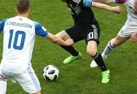 جامجهانی/ پایان نیمه اول: آرژانتین ۱- ایسلند ۱