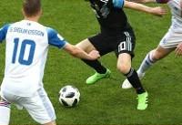 خلاصه بازی آرژانتین ۱ - ایسلند ۱ (جام جهانی روسیه)