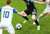 جام جهانی؛ تساوی آرژانتین و ایسلند در روز بد مسی