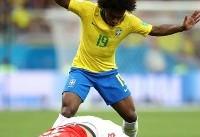تا دقیقه ۳۰/ سوپر گل کوتینیو برزیل را پیش انداخت