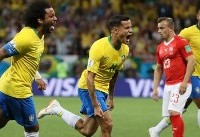 کوتینیو بهترین بازیکن دیدار برزیل و سوئیس شد
