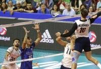 والیبال ایران با شکست برابر آمریکا از صعود به دور نهایی بازماند