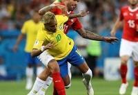 تا دقیقه ۴۷/ برزیل یک - سوئیس یک