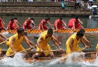 رقابت های قایق های اژدها در چین +عکس