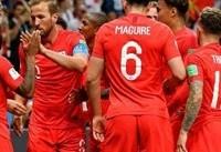 انگلیس با هری کین در واپسین دقایق تونس را شکست داد