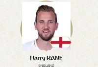 بهترین بازیکن بازی انگلیس و تونس