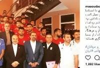 عکس یادگاری وزیر ورزش با بازیکنان تیم ملی