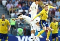 تساوی تیم فوتبال کره جنوبی مقابل سوئد در نیمه نخست