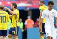 خلاصه بازی سوئد ۱ - کرهجنوبی ۰
