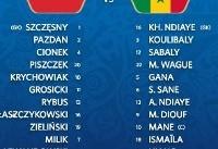 عکس/ لیست بازیکنان حاضر در بازی دو تیم لهستان و سنگال