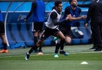 آخرین تمرین تیم ملی فوتبال برگزار شد/ ابراهیمی به بازی می رسد