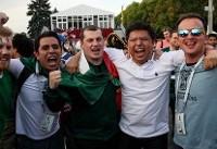 تماشای فوتبال جام جهانی در خیابان های مسکو