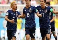 پیروزی ژاپن برابر کلمبیای ۱۰ نفره/ ساموراییها هم امتیاز ایران