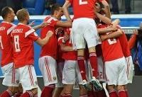 روسیه ۳ - مصر یک/ حذف تقریبی فراعنه از جام
