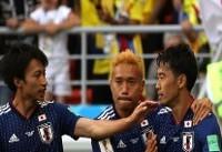 تساوی ژاپن برابر کلمبیا در نیمه نخست