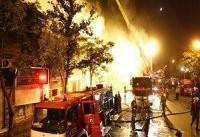 پایان آتش&#۸۲۰۴;سوزی در خیابان امیرکبیر