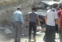 تصادف خونین ۳ خودرو در پلدختر / ۲ نفر کشته و ۱۸ نفر مجروح شدند +عکس