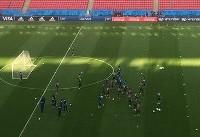 تمرین تیم ملی ایران در ورزشگاه کازان (+عکس)