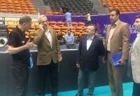 بازدید معاون وزیر ورزش از مراحل آماده سازی سالن ۱۲ هزار نفری مجموعه آزادی