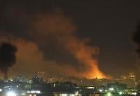 حمله جنگندههای اسرائیلی به پایگاههای مقاومت در غرب رفح
