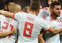اعلام ترکیب تیم ملی فوتبال اسپانیا برای بازی با ایران