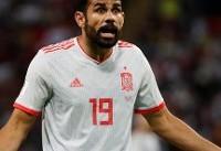 کاستا بهترین بازیکن دیدار اسپانیا و ایران