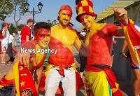 هواداران ایران و اسپانیا قبل از آغاز بازی + عکس