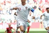 رونالدو بهترین بازیکن دیدار مراکش و پرتغال شد