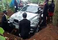 ماشین گران قیمت تابوت پدر نیجریهای شد! (+عکس)