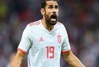 تصاویر خوشحالی پس از گل اسپانیا مقابل ایران