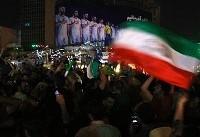 خوشحالی مردم در خیابانها پس از شکست برابر اسپانیا