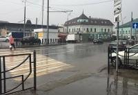 بارندگی شدید در کازان قبل از بازی ایران و اسپانیا+ فیلم
