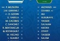 برتری اروگوئه در نیمه نخست/ هیجانِ صفر درجه!