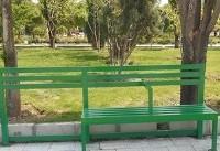 نصب نیمکتهای ویژه معلولین در بوستانهای جنوب شهر