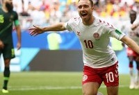 اریکسن بهترین بازیکن دیدار دانمارک - استرالیا شد