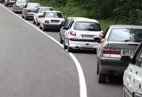 وضعیت جاده ها:ترافیک در هراز/بارندگی در مازندران
