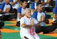 برگزاری مراسم روز جهانی یوگا در حضور نخست وزیر هند