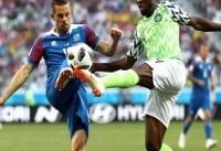 تساوی ایسلند و نیجریه در نیمه نخست