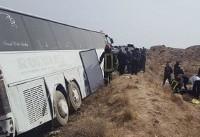 واژگونی اتوبوس حامل مسافران عراقی در رامسر/۱۲ گردشگر مصدوم شدند