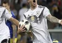آلمان در دقیقه ۹۵ گل برتری مقابل سوئد را به ثمر رساند