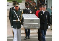 US moves 100 coffins to N. Korean border for war remains