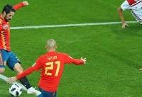 تساوی اسپانیا و مراکش در نیمه اول